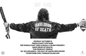 Show Review: Bass Drum of Death, The People's Temple, Black Beach @ Middle East Upstairs (10/6/14)