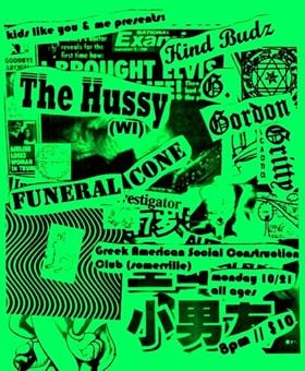 ONE WEEK FROM TODAY – OCTOBER 21, 2019 – THE HUSSY @ THE GREEK